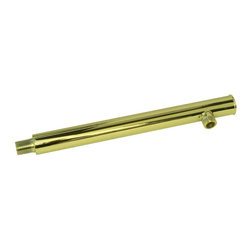Renovators Supply - Shower Parts Brass PVD Brass Shower Arm Part - Shower Arm: A gold PVD finish over solid brass ensures these shower arm will be tarnish free for many years to come. Flange NOT included.