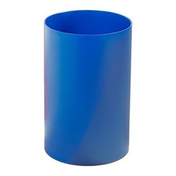 Kartell - Wastebasket, Transparent Blue - Now you can take out the trash in style with this ultra-hip wastebasket. Made of batch-dyed polypropylene, it's available in gray, white, black or smoke for a more refined aesthetic or a palette of bold hues that scream 60s cool. Either way, its streamlined, cylindrical form is perfectly at home in a modern-day setting.