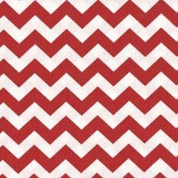"""SheetWorld - SheetWorld Fitted Crib / Toddler Sheet - Red Chevron Zigzag - Made in USA - This luxurious 100% cotton """"woven"""" crib / toddler sheet features a red chevron zigzag print. Our sheets are made of the highest quality fabric that's measured at a 280 tc. That means these sheets are soft and durable. Sheets are made with deep pockets and are elasticized around the entire edge which prevents it from slipping off the mattress, thereby keeping your baby safe. These sheets are so durable that they will last all through your baby's growing years. We're called SheetWorld because we produce the highest grade sheets on the market today. Size: 28 x 52."""