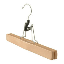 Proman - Trouser/skirt Hanger, Natural Finish, Set of 30 - Trouser/Skirt Hanger, natural finish,solid wood with felt inside. 30pcs /case. Solid wood with felt inside. Perfect for trousers or skirts.
