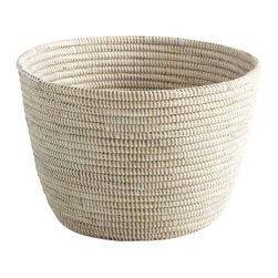Small African Handmade Basket - Our Small African Basket is the perfect organizer for the shelf or table.