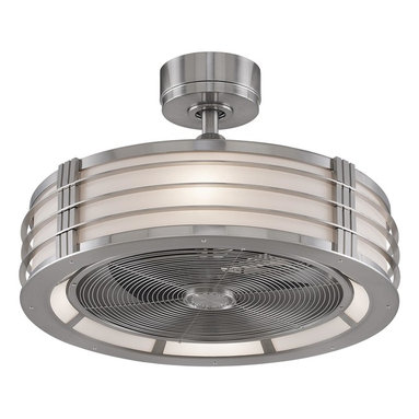 Fanimation - Fanimation Beckwith Ceiling Fan in Brushed Nickel - Fanimation Beckwith Model FA-FP7964BN in Brushed Nickel with Aluminum Finished Blades.