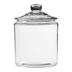 Gallon Glass Jar with Lid - A nice size glass display jar for items like lentils, pastas, legumes and the like. We have to say that seeing these items sitting out in the kitchen does provide a welcome reminder to cook with them...