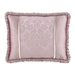 """Dian Austin Couture Home - Dian Austin Couture Home Standard Pieced Sham - Exclusively ours. The """"Aix-en-Provence"""" bed linens collection from Dian Austin Couture Home® features two duvet covers. There's the lovely lavender duvet cover with soft, silvery twisted-yarn damask design woven in Europe, and there's the highly...."""