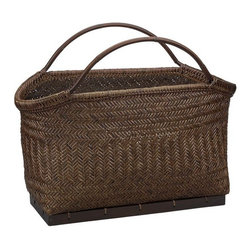 Pramana Magazine Basket - Organize your magazines in style in your living room or office space.