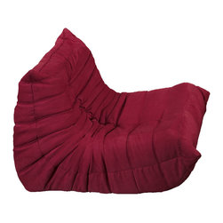 Modway - Modway EEI-904 Waverunner Armchair in Red - Provide natural comfort at every gathering with a balanced set of functional symmetry. Observe as Waverunner interplays ergonomics with dense foam cushioning to precisely reflect full relaxation. Wander through the pathways of elucidation with a multi-layered environment of intricate folds and holistic positioning.
