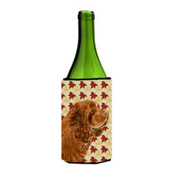 Caroline's Treasures - Sussex Spaniel Fall Leaves Portrait Wine Bottle Koozie Hugger - Sussex Spaniel Fall Leaves Portrait Wine Bottle Koozie Hugger Fits 750 ml. wine or other beverage bottles. Fits 24 oz. cans or pint bottles. Great collapsible koozie for large cans of beer, Energy Drinks or large Iced Tea beverages. Great to keep track of your beverage and add a bit of flair to a gathering. Wash the hugger in your washing machine. Design will not come off.