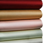 Luxor Linens - Carmela Sateen Luxury Sheets - Slip into silky comfort between these sumptuous sateen sheets. Crafted from Egyptian cotton in rich colors with a thread count of 510, they're as luxurious as they come. Who says life can't be a bed of roses?