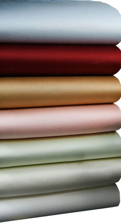 Luxor Linens - Carmela Sateen Luxury Sheets, King, Gold - Slip into silky comfort between these sumptuous sateen sheets. Crafted from Egyptian cotton in rich colors with a thread count of 510, they're as luxurious as they come. Who says life can't be a bed of roses?