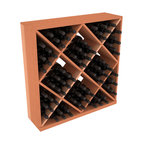 Wine Racks America - Solid Diamond Storage Cube in Redwood, (Unstained) - Elegant diamond bin style bottle openings make for simple loading of your favorite wines. This solid wooden wine cube is a perfect alternative to column-style racking kits. Double your storage capacity with back-to-back units without requiring more access area. We build this rack to our industry leading standards and your satisfaction is guaranteed.