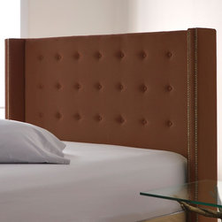 Nate Berkus™ Upholstered Wrap Headboard - Indulge your regal side with this padded throne like headboard.