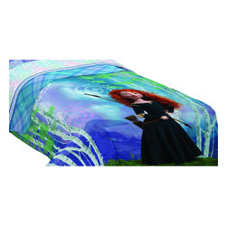 Franco Manufacturing Company INC - Disney Brave Twin Comforter Merida Forest Bedding - FEATURES: