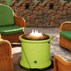 California Outdoor Concepts - Lime Green Island Fire Pit - The 3% of people who love lime green, REALLY love lime green.  They will cover everything in lime green paint and and compliment it with other bright colors.  This is why I love the Island Firepit.  It has 7 different color options to choose from with Lime Green being the most popular!