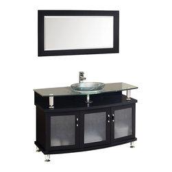 "Fresca - Fresca Contento 60"" Espresso Double Sink Modern Bathroom Vanity w/ Mirrors, 48"" - Fresca Contento 48"" Espresso Modern Bathroom Vanity w/ Mirror"