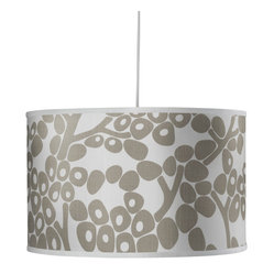 Modern Berries Large Cylinder, Taupe