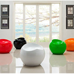 """LexMod - Drop Multicolored Stools Set of 5 in Multicolored - Drop Multicolored Stools Set of 5 in Multicolored - Fun and modern the Plop Stool makes its appearance as if out of nowhere. Its surprising downward flow makes it a ready piece capable of conveying vast originality to your decor. Formed from strong and durable ABS plastic polished in high gloss enamel, taste a notion of something different while experiencing a piece beyond particulars. Set Includes: Five - Drop Stools Expressive casual seating, Compact modern drop stool, High gloss enamel finish, ABS polished plastic Overall Product Dimensions: 21""""L x 21.5""""W x 18""""H Seat Dimensions: 20""""L x 15""""H - Mid Century Modern Furniture."""