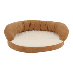 "Carolina Pet Company - Ortho Sleeper Bolster Bed - For the older pet who needs a little more support and comfort.  4"" inches of medical grade orthopedic foam relieves pressure on joints. Velvet microfiber bolster with plush Sherpa sleep surface for added warmth and comfort.  100% high loft polyester fill in bolster.  Zippered cover removes easily for machine washing."