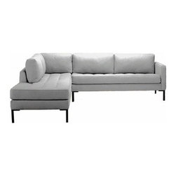 Blu Dot - Paramount Sectional Sofa | Blu Dot - The Paramount Sectional Sofa is as comfortable as your favorite pair of blue jeans and as versatile as the standby little  black dress. This classic sectional sofa can go anywhere in style, but don't be surprised if it steals the limelight in its own quiet way. Available in select upholstery color options.