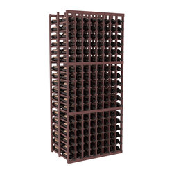Wine Racks America - 8 Column Double Deep Cellar in Pine, Walnut + Satin Finish - This high capacity 8 column wine rack holds up to 24 cases of wine. Designed for beauty and efficiency, you'll love this rack. Made in the USA and guaranteed to last a lifetime. Double deep wine racks are perfect for large wine cellars and retail applications. Great for restaurants, bars or private collections.