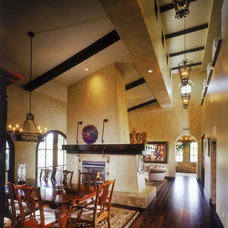 Mediterranean Dining Room by South Coast Architects, Inc.