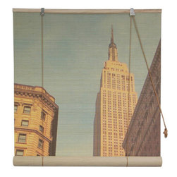 Oriental Furniture - Empire State Building Bamboo Blinds - 72 Inch, Width - 72 Inches - - These stunning bamboo matchstick blinds feature a lovely view of New York's Empire State Building.  Available in five convenient sizes.   Easy to hang and operate.  Available in five sizes, 24W, 36W, 48W, 60W and 72W.  All sizes measure 72 long. Oriental Furniture - WTCL09-37-72