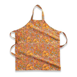Jardin Apron, Red/Yellow