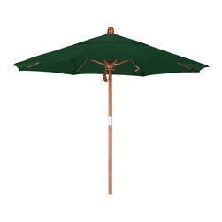 California Umbrella - 7.5 Foot Olefin Fabric Pulley Open Wood Market Umbrella - California Umbrella, Inc. has been producing high quality patio umbrellas and frames for over 50-years. The California Umbrella trademark is immediately recognized for its standard in engineering and innovation among all brands in the United States. As a leader in the industry, they strive to provide you with products and service that will satisfy even the most demanding consumers.