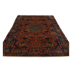5'x8' 100% Wool Persian Nahavand Full Pile Hand Knotted Oriental Rug Sh18774 - Our fine Oriental hand knotted rug collection consists of 100% genuine, hand-knotted and hand-woven rugs from Persia, China, and other areas throughout Asia. Classic, traditional, and offered in a wide range of elaborate designs, every rug is guaranteed to serve as a beautiful and striking element in any interior setting.