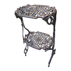Oakland Living - Oakland Living 2 Level Plant Stand in Antique Bronze - Oakland Living - Patio End Tables - 6026AB - About this product:
