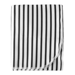 Cotton Baby, Black & White Stripe - - a breathable, lightweight and warm blanket for your little one