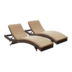 "LexMod - Peer Chaise Outdoor Patio Set of 2 in Brown Mocha - Peer Chaise Outdoor Patio Set of 2 in Brown Mocha - Dont let moments of relaxation elude you. Peer is a serenely pleasant piece comprised of all-weather cushions and a rattan base. Perfect for use by pools and patio areas, chart the waters of your imagination as you recline either for a nap, good read, or simple breaths of fresh air. Moments of personal discovery await with this chaise lounge that has fold away legs for easy storage or stackability with other Peer lounges. Set Includes: Two - Peer Outdoor Wicker Chaise Modern Outdoor Chaise Lounge, Synthetic Rattan Weave, Machine Washable Cushion Covers, Powder Coated Aluminum Frame, Water & UV Resistant Overall Product Dimensions: 78""L x 27.5""W x 48.5""H Daybed Dimensions: 78""L x 27.5""W x 33""H Seat Height: 15.5""HBACKrest Height: 33""H - Mid Century Modern Furniture."