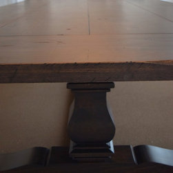 Custom Distressed Pine Trestle Conference Table in Charlotte, NC -