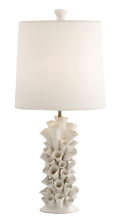 Arteriors - Cassidy Natural Lamp - Give your favorite setting an organic vibe with this unusual table lamp. The hand-formed ceramic base evokes the sea, the forest and other natural realms.