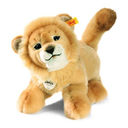 Steiff - Steiff Leo Baby Dangling Lion - Steiff Leo Baby Dangling Lion is made of cuddly soft blond plush. Machine washable. Ages 3 and up. Handmade by Steiff of Germany.