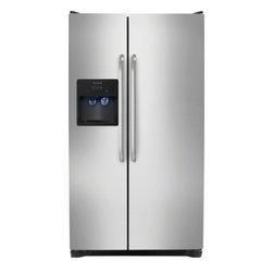 Frigidaire - FFSS2614QS 26 Cu. Ft. Side By Side Refrigerator in Stainless Steel - FFSS2614QS 26 Cu Ft Side By Side Refrigerator in Stainless Steel