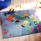 HABA Dreamland Area Rug - Come to the land of fantasy! The colorful play street shows you the way.