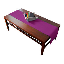 The Felt Store - Fuchsia Table Runner - The designer felt table runners are crafted from 100% virgin wool and are available in a wide range of bright colors. These table runners are perfect for your kitchen table, coffee tables and/or office space. The runner can be cut to size. This table runner measures 70 inches long x 12 inches wide and is 3mm thick.