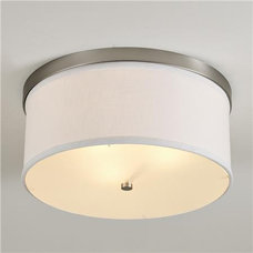 Contemporary Ceiling Lighting Springfield Linene Shade Ceiling Light