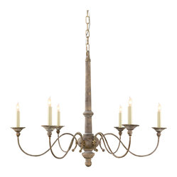 Country Small Chandelier - Feel like you're dining by candlelight under the glow of this gorgeous chandelier. Featuring delicate curves and candle-shaped lights, it's antique-inspired and utterly romantic.