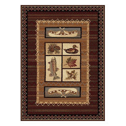 """Tayse - Southwestern/Lodge Nature Hallway Runner 2'7""""x7'3"""" Runner Brown Area Rug - The Nature area rug Collection offers an affordable assortment of Southwestern/Lodge stylings. Nature features a blend of natural Brown color. Machine Made of Polypropylene the Nature Collection is an intriguing compliment to any decor."""