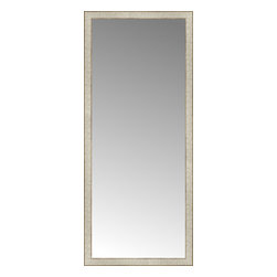 """Posters 2 Prints, LLC - 25"""" x 58"""" Libretto Antique Silver Custom Framed Mirror - 25"""" x 58"""" Custom Framed Mirror made by Posters 2 Prints. Standard glass with unrivaled selection of crafted mirror frames.  Protected with category II safety backing to keep glass fragments together should the mirror be accidentally broken.  Safe arrival guaranteed.  Made in the United States of America"""