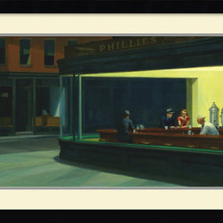 Amanti Art - Nighthawks, 1942 Framed Print by Edward Hopper - Countless stories have been created about the subjects of this iconic Edward Hopper painting. Hang this beautifully-framed reproduction in your home and you'll begin your own fascination with their untold lives.