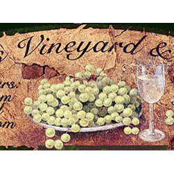 Red Horse Signs - Rosetti's Vineyard and Chateau Custom Vintage Sign - Rosetti's  Tuscan  Chateau  is  a  wonderful  vintage  design  printed  directly  to  distressed  wood  for  a  worn    weathered  look  and  appeal.  It's  warm  browns  and  tans  are  perfect  for  your  tuscan  decor  and  offer  an  inviting  mood.  Sign  measures  11  x  32.
