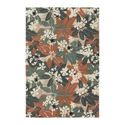 Chandra Rugs - Hand-Tufted Designer Wool Rug ALF2105 - 7'9 x 10'6 - Hand-tufted Designer Wool Rug - ALF2105 - 7'9 x 10'6