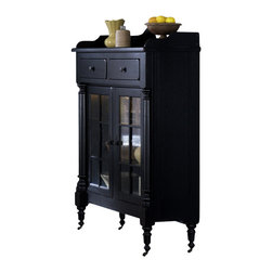 Liberty - Liberty Treasures Display Cabinet in Black - Evokes the feel of a treasured antique