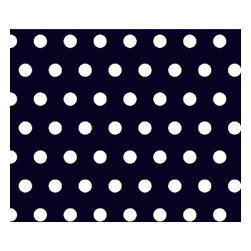 """SheetWorld - SheetWorld Fitted Crib / Toddler Sheet - Polka Dots Navy - Made in USA - This beautiful 100% cotton """"woven"""" crib / toddler sheet features a 1/2"""" polka dot print on a solid navy background. Our sheets are made of the highest quality fabric that's measured at a 280 tc. That means these sheets are soft and durable. Sheets are made with deep pockets and are elasticized around the entire edge which prevents it from slipping off the mattress, thereby keeping your baby safe. These sheets are so durable that they will last all through your baby's growing years. We're called sheetworld because we produce the highest grade sheets on the market today."""