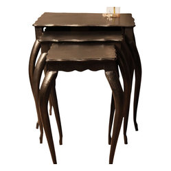 Iron Nesting Tables (set of 3)