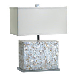 Cyan Design - Cyan Design Lighting 02597 Shell Tile Lamp - Cyan Design 02597 Shell Tile Lamp