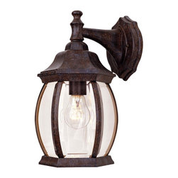 Savoy House - Savoy House Exterior Collections Outdoor Wall Mount Light Fixture in Tortuga - Shown in picture: Decorate your favorite outdoor spaces to bring a sense of style Al Fresco! Rustic Bronze Finish with Clear Beveled Glass