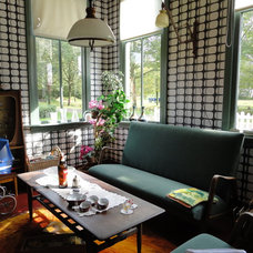 Eclectic Family Room Historical mid century Dutch interior